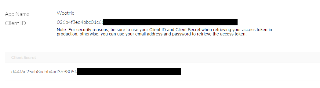 Client ID Secret